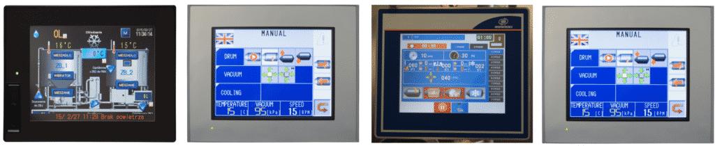 installazione e manutenzione macchine industria alimentare-4 schermi