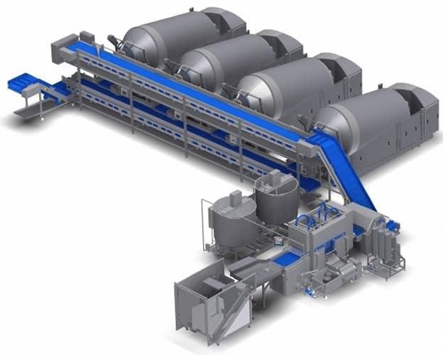 linee industriali automatizzate lavorazione carne e pesce